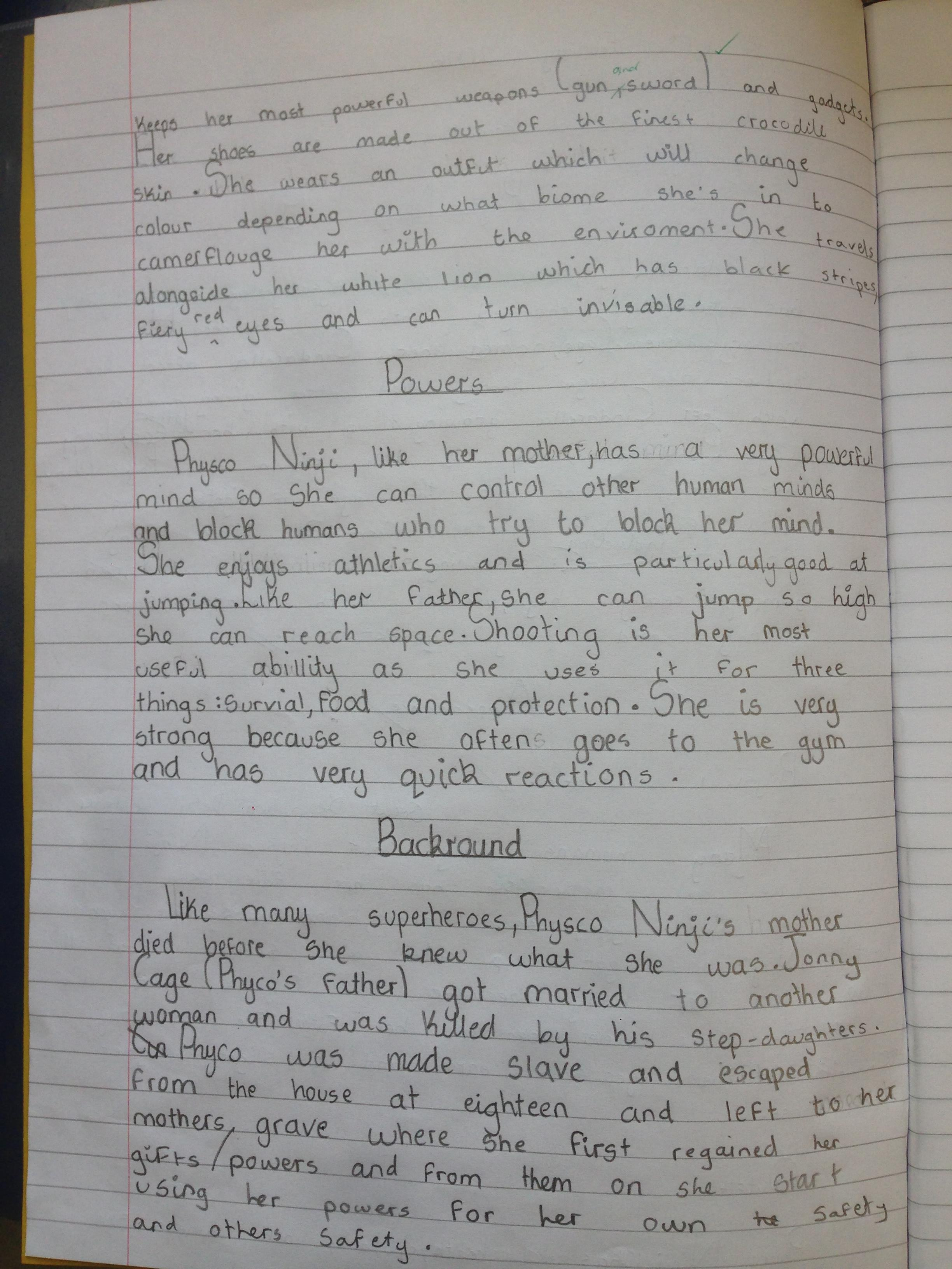 Writing Diary Entries Year 6 Comprehension