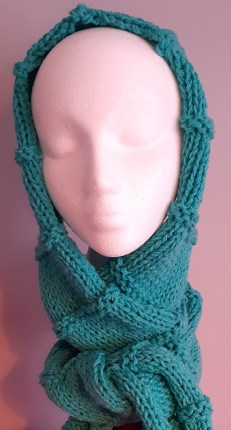 Handknitted Turquoise Scarf