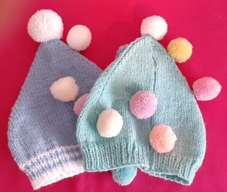 Kids Pom Pom Knitted Hats