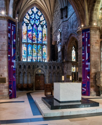 New lenten banners looking North North east