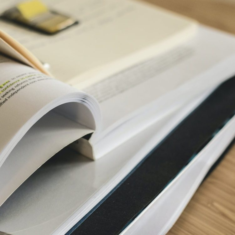 close up of photo of books