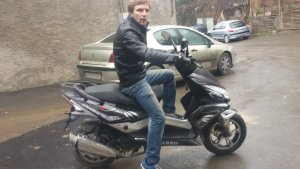 Giorgi and the new moped