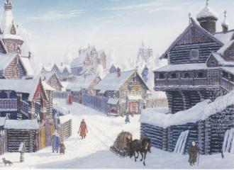 Russian Village card