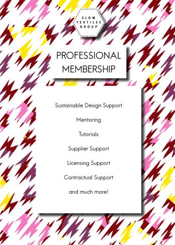 Slow Textiles Group Membership Flier