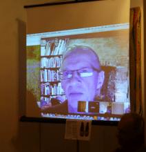 John Hopper of The Textile Blog presents livestream at Slow Textiles Group event