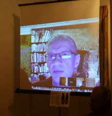 John Hopper of The Textile Blog presents livestream at Slow Textiles Group event
