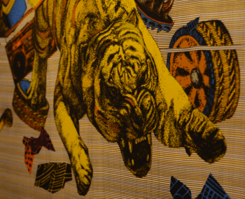 Ying Wu silk print, Slow Textiles Group event