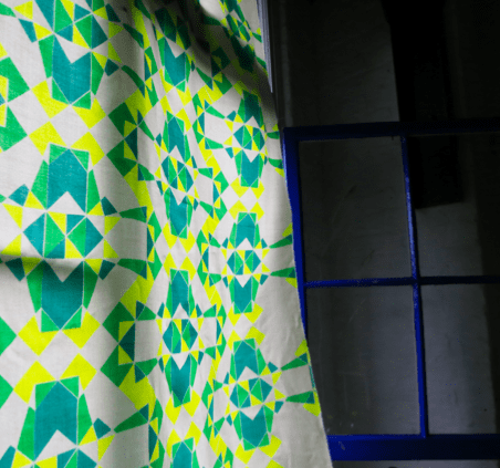 Print by Victoria Umansky at Textiles Hub London, 2014