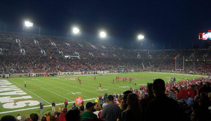 Stanford Cardinal fans at Stanford Stadium