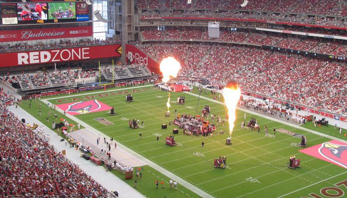 Arizona Cardinals football game at State Farm Stadium