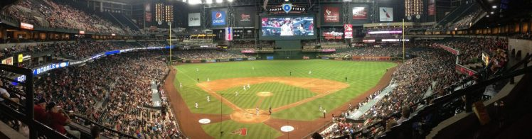 Chase Field covered roof big screen