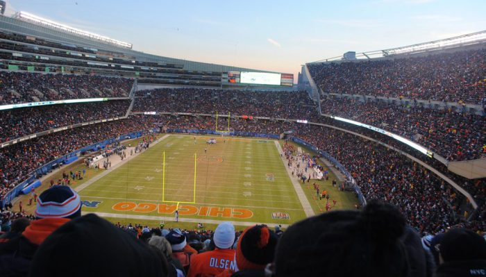 Chicago Bears fans at Soldier Field