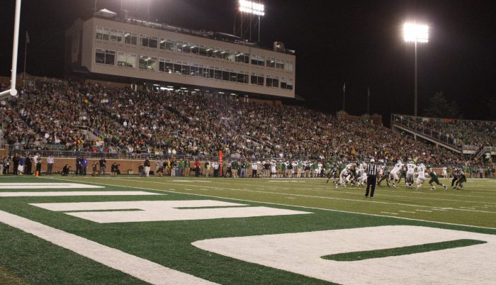 Ohio Bobcats fans at football game