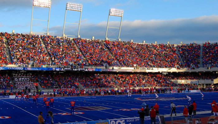 Boise State Broncos fans at Albertsons Stadium
