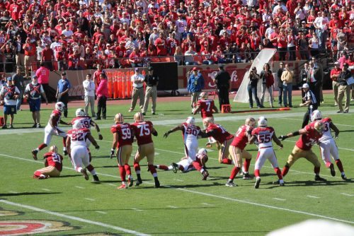 Arizona Cardinals vs San Francisco 49ers football game