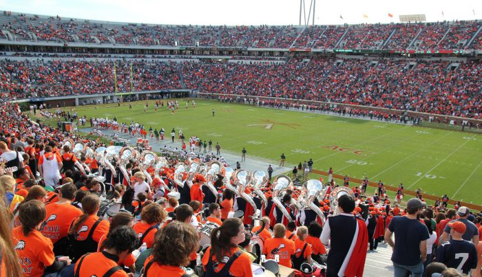 Virginia Cavaliers fans at the football game