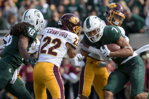CMU Chippewas vs MSU Spartans football game