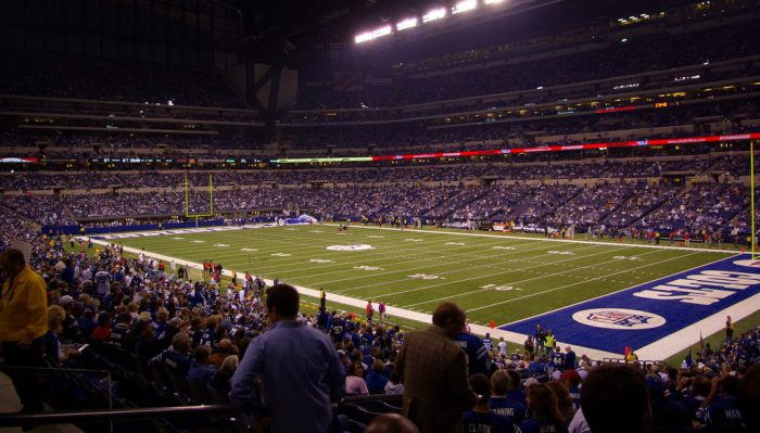 Indianapolis Colts fans at Lucas Oil Stadium