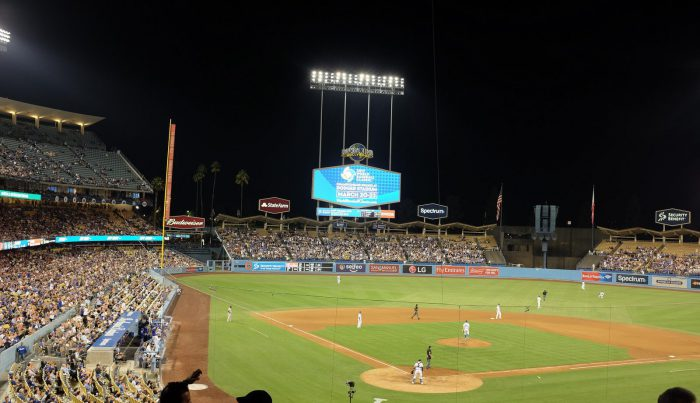 Dodger Stadium night game