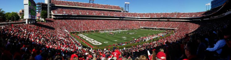 Georgia Bulldogs football game at Sanford Stadium