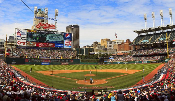 Cleveland Indians vs Boston Red Sox at Progressive Field