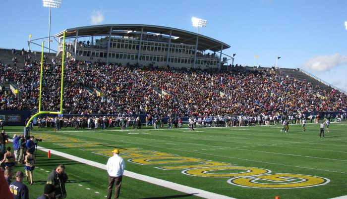 Kent State Golden Flashes fans at Dix Stadium