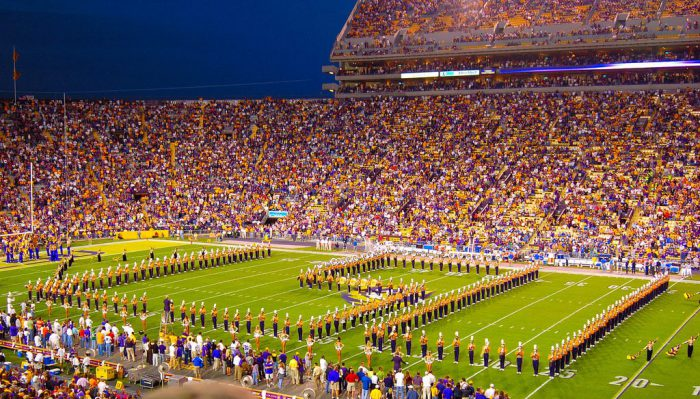 LSU Tigers football game at Tiger Stadium