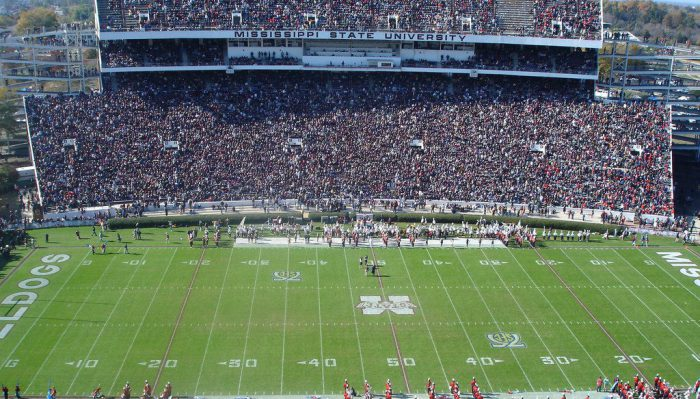Mississippi State Bulldogs fans at Davis Wade Stadium