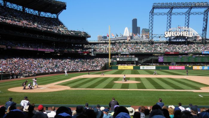 View of Safeco Field from Section 123 Row 17