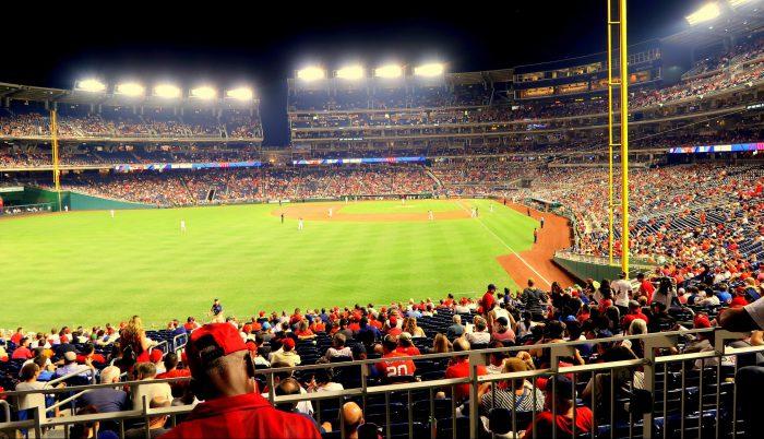 Nationals Park ballpark lights