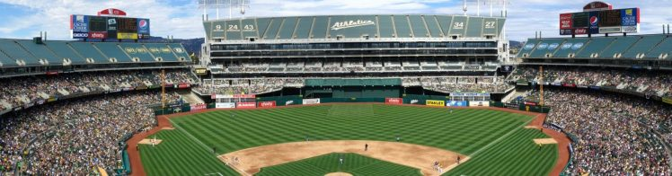 Oakland Alameda County Coliseum panoramic view