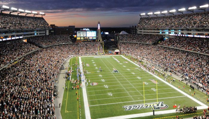 Home of the New England Patriots Gillette Stadium