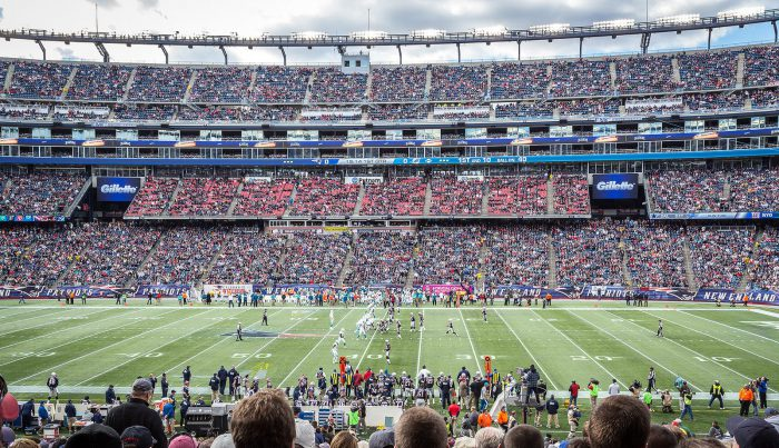New England Patriots game at Gillette Stadium