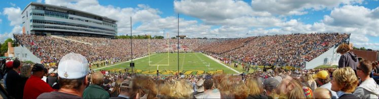 Purdue Boilermakers football fans at Ross Ade Stadium