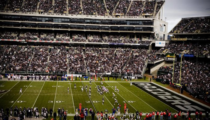 Raiders fans at Oakland Alameda County Coliseum