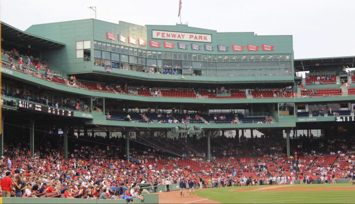 Fenway Park championship banners years