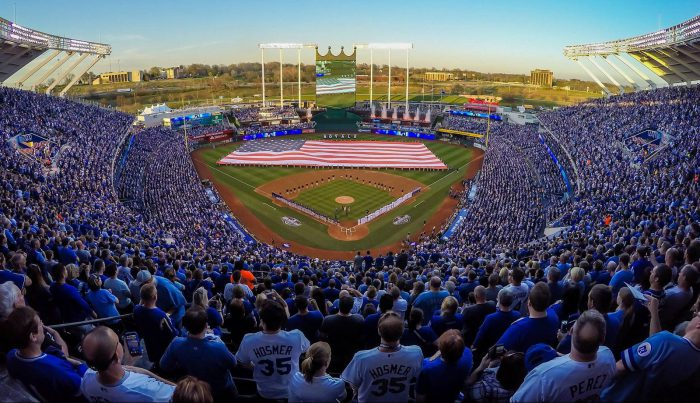 Kansas City Royals Opening Day US flag