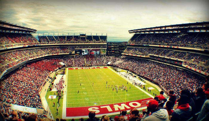 Temple Owls football game at Lincoln Financial Field