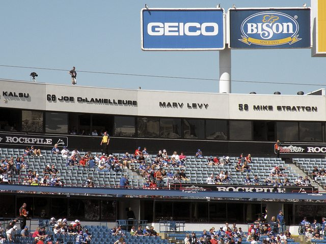 The Wall of Fame in New Era Field honors all the Buffalo Bills greats of the past