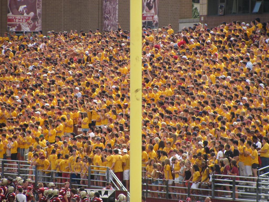 Boston College Eagles fans