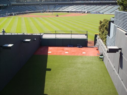 view from the visitors bullpen