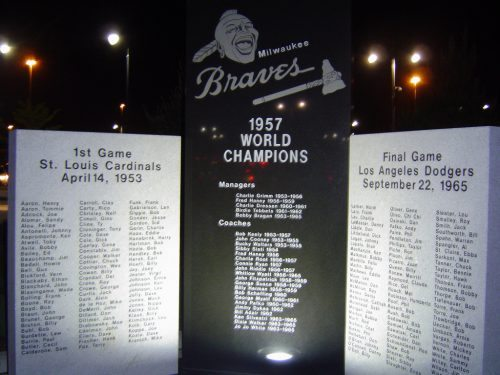 Braves World Champions Monument Milwaukee Brewers