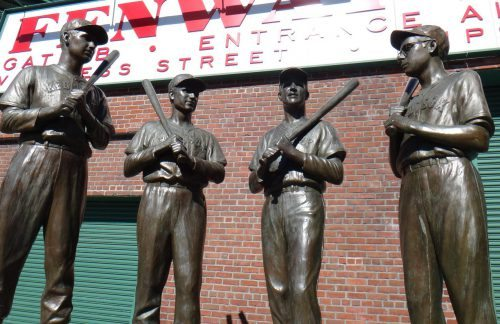 Fenway Park Statues Boston Red Sox