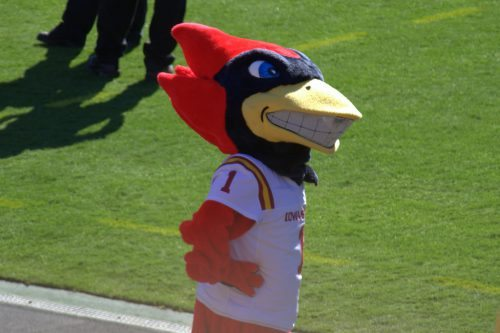 Cy the Cardinal Iowa State Cyclones mascot