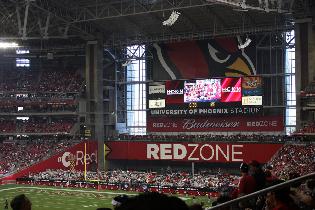 State Farm Stadium red zone