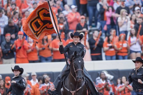 Oklahoma State Cowboys spirit rider