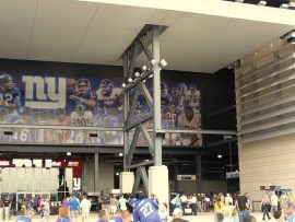 New York Giants mural at MetLife Stadium