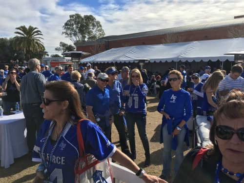 Air Force Falcons fans on tailgate area