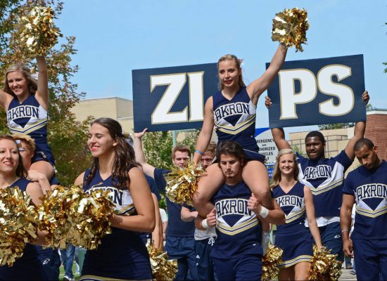 Akron Zips cheerleaders