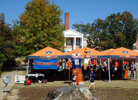Auburn Tigers fans tailgating on football gameday